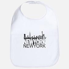New York Skyline Bib