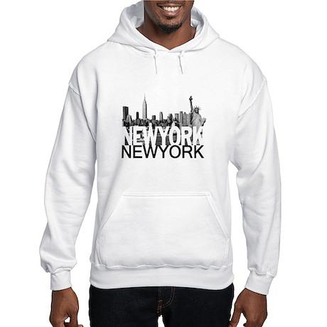 New York Skyline Hooded Sweatshirt