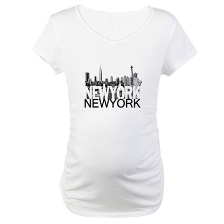 New York Skyline Maternity T-Shirt