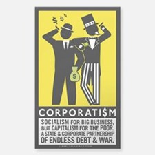 Corporatism Sticker (Rectangle)
