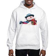 Cute winter snowman with blue hat Hoodie