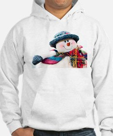 Cute winter snowman with blue hat Hoodie
