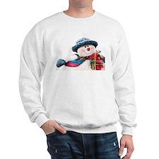 Cute winter snowman with blue hat Sweatshirt