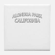 Alondra Park California Tile Coaster
