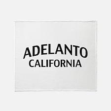 Adelanto California Throw Blanket