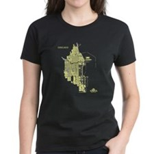 Chicago Women's T-Shirt Lemon on Black