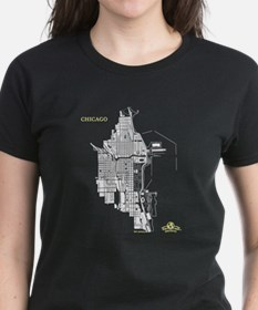Chicago Women's T-Shirt White on Black