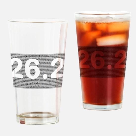 Unique 26.2 Drinking Glass