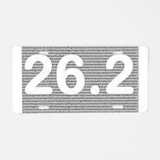 Cute 26.2 Aluminum License Plate