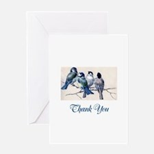 Blue Birds Thank You Greeting Card