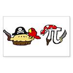 Pi & Pie Pirates Sticker (Rectangle 10 pk)