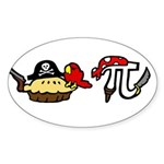 Pi & Pie Pirates Sticker (Oval 50 pk)