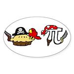 Pi & Pie Pirates Sticker (Oval)