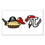 Pi & Pie Pirates Sticker (Rectangle)
