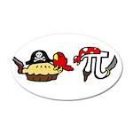 Pi & Pie Pirates 22x14 Oval Wall Peel