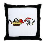 Pi & Pie Pirates Throw Pillow