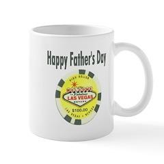 Happy Father's Day Poker Chip Mug