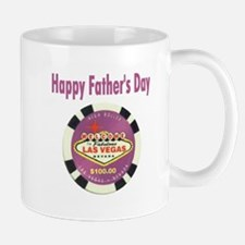 Happy Father's Day Poker Chip Mug