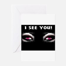 Jmcks I See You Greeting Cards (Pk of 10)