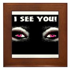 Jmcks I See You Framed Tile