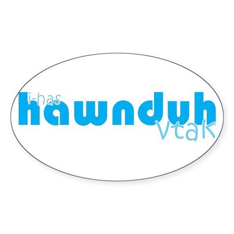 Hawnduh Sticker (Oval)