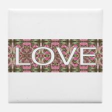 Groovy Love Nostalgia Tile Coaster