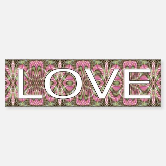 Groovy Love Nostalgia Bumper Bumper Bumper Sticker