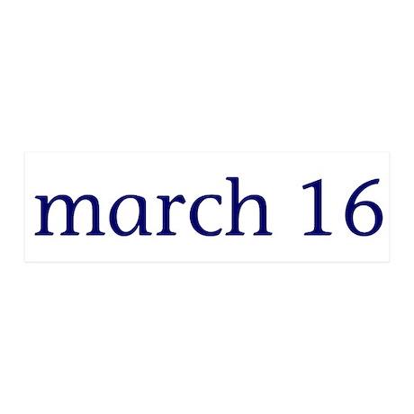 March 16 42x14 Wall Peel