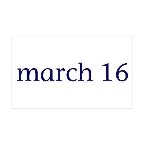 March 16 38.5 x 24.5 Wall Peel