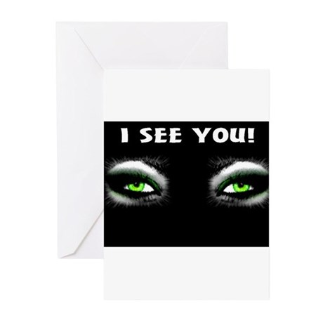 Jmcks I See You Greeting Cards (Pk of 20)