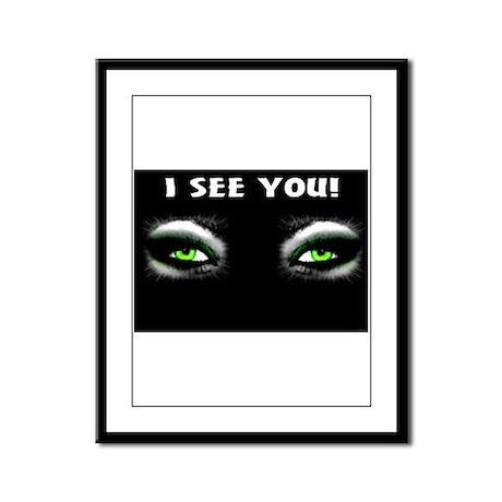 Jmcks I See You Framed Panel Print