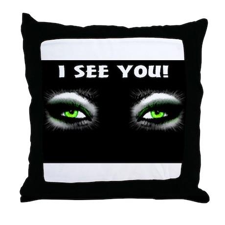 Jmcks I See You Throw Pillow