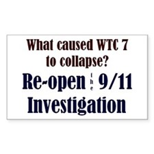 Re-open 9/11 Investigation Rectangle Decal