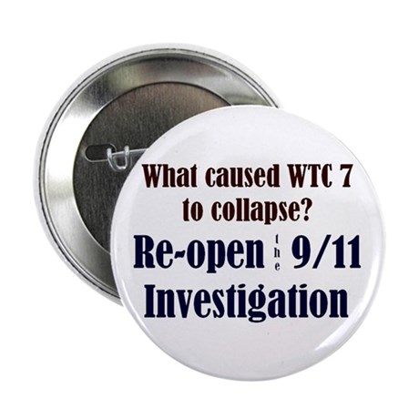 "Re-open 9/11 Investigation 2.25"" Button (100 pack)"