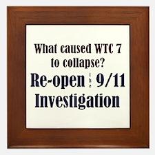 Re-open 9/11 Investigation Framed Tile