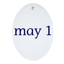 May 1 Ornament (Oval)