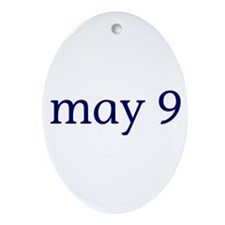 May 9 Ornament (Oval)