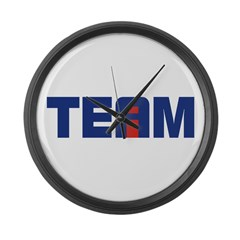 I in Team Large Wall Clock