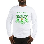 Bicycle Recycle Long Sleeve T-Shirt