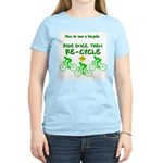 Bicycle Recycle Women's Pink T-Shirt