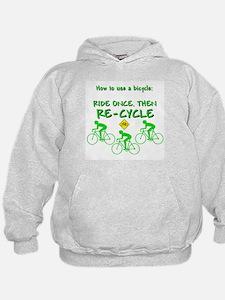 Bicycle Recycle Hoodie