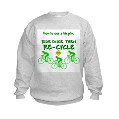 Bicycle Recycle Sweatshirt