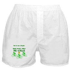 Bicycle Recycle Boxer Shorts