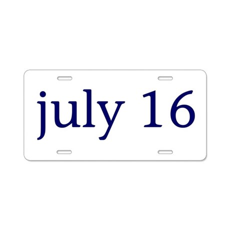 July 16 Aluminum License Plate