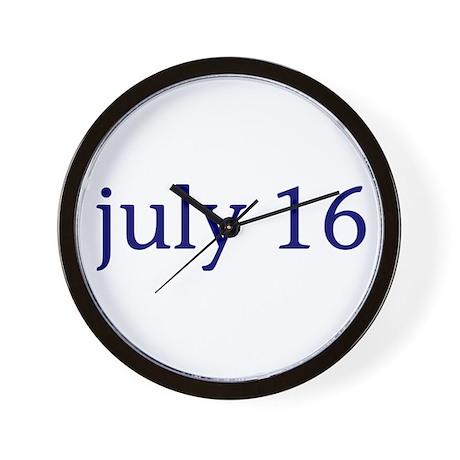 July 16 Wall Clock