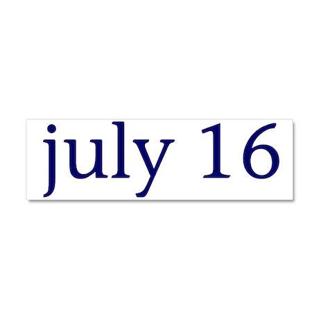 July 16 Car Magnet 10 x 3