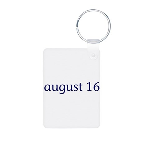 August 16 Aluminum Photo Keychain