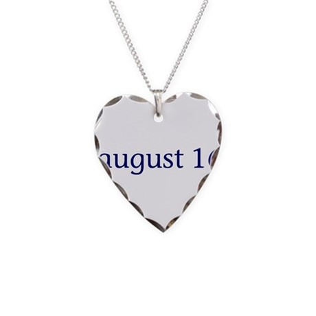 August 16 Necklace Heart Charm
