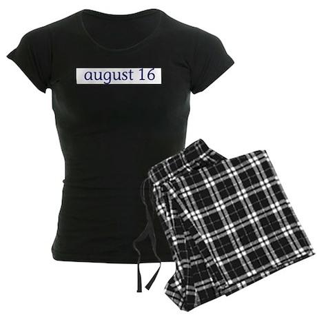 August 16 Women's Dark Pajamas