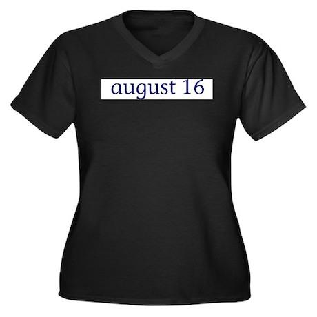 August 16 Women's Plus Size V-Neck Dark T-Shirt